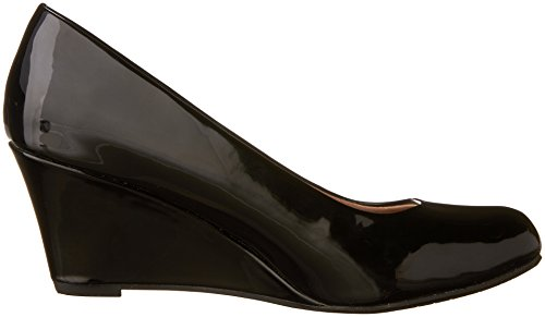 Pumps Wedge Patent Link 22 Forever DORIS Black Women's Toe Round RcAOAqvF8