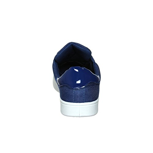 Welke Nieuwe Aankomst Dan Ook !! Womens Graphic Designer Lace-up / Slip-on Fashion Sneaker Blue Jean