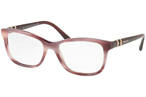 Bvlgari BV4133B Eyeglasses 52-17-140 Pink Havana w/Demo Clear Lens 5415 BV 4133B BV 4133-B BV4133-B Bulgari ()