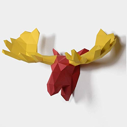 Amazon.com: Moose DIY Paper Sculpture, DIY Paper Sculpture, Pre-cutting Low Poly Papercraft Kit, Animals Head, Wall Decor, DIY Gift: Handmade