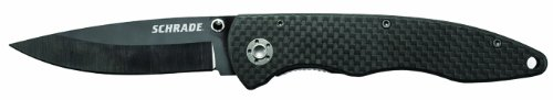 Schrade SCH401L Ceramic/Carbon Fiber Clip Folder Knife