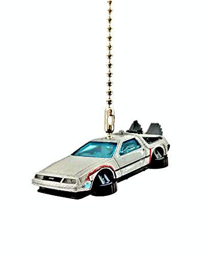 - Diecast Back to the Future Delorean Ceiling Fan Light Pull Chain Christmas Ornaments (Back to the Future Hovering Delorean)
