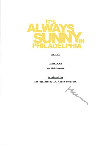 Kaitlin Olson Signed It's Always Sunny in Philadelphia Pilot Episode Script COA (Its Always Sunny In Philadelphia Pilot Script)