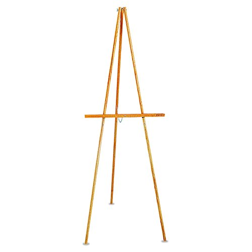 Quartet Lightweight Wood Display Easel, Natural Oak (41E)]()