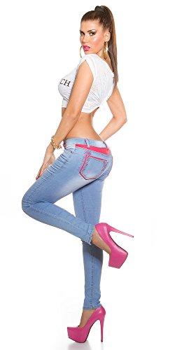 Store Blanco Pantaloni Elasticizzati Denim Jeans Donna Blue Light arXxdBrq