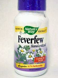 Cheap Natures Way Feverfew Standardized 60 Vegetarian Capsule, 60 ct
