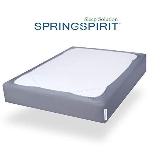 Box Spring Cover Twin Size with Smooth and Elastic Woven Material, Wrinkle & Fading Resistant, Washable, Dustproof.