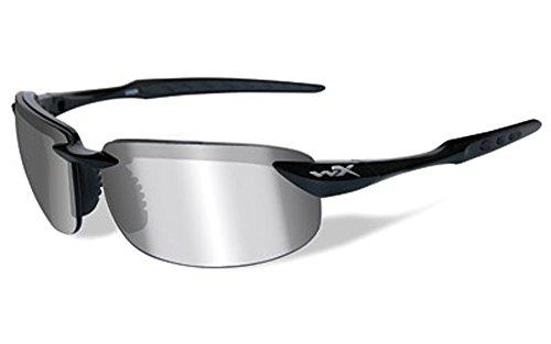 6283334974 Wiley X Tobi Black Ops Polarized Smoke Grey Gloss Tactical Sunglasses