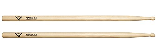Vater VHP5BW Power 5B Wood Tip Hickory Drumsticks, Pair