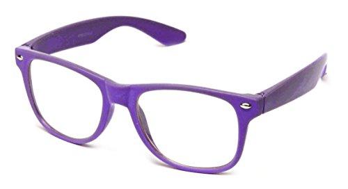 Clear Lens Fashion Fun Nerd Cosplay Geek Colors Rainbow Multi Color BUY 3 GET 50% OFF! C Purple