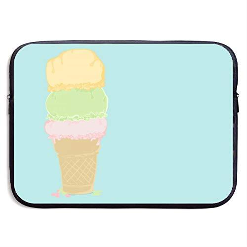 - SWAKOJIJI Three Balls of Ice Cream 13/15 Inch Laptop Sleeve Bag for MacBook Air 11 13 15 Pro 13.3 15.4 Portable Zipper Laptop Bag Tablet Bag,Diving Fabric,Waterproof Black