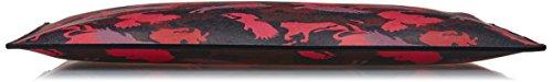 Just Cavalli Borsette Da Polso, Borse a spalla Donna Multicolore (Schwarz/Rot/Pflaume)