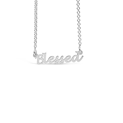 Blessed Women Handmade Sterling Silver Necklace Inspirational Jewelry