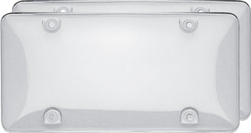 Cruiser Accessories 72101 Double Bubble Valu-Pak License Plate Shield/Cover, Clear Cruiser Acrylic License Plate Bubble
