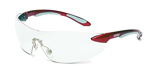 uvex-s4410x-ignite-safety-eyewear-metallic-red-and-silver-frame-clear-uvextra-anti-fog-lens