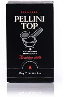 Pellini Caffè – Espresso Pellini Top Arabica 100%, (6 Confezioni da 18 Cialde Monodose, Totale 108 Cialde), Compatibili con Sistema E.S.E. (Dm 44 mm)