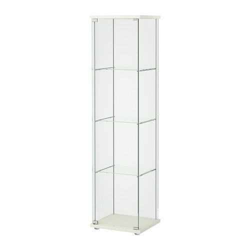 Ikea Detolf Glass Curio Display Cabinet White (Display Case Curio)