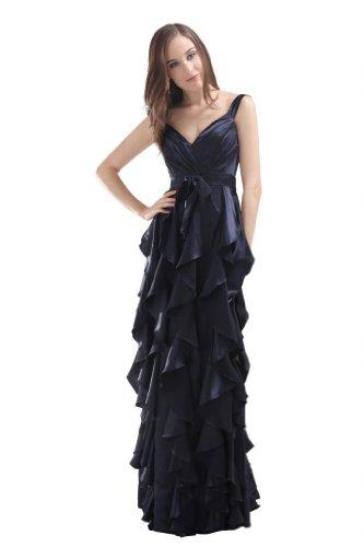 Orifashion para vestido de noche mujer Empire azul oscuro azul oscuro