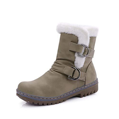 Para Pu Damas Gran Academy Nieve Tamaño Planas Artificial Otoño botines Tacón Botines Comfort botas Plano invierno Top Ocasionales Y Invierno De Botas Mujer wCgXOEqq