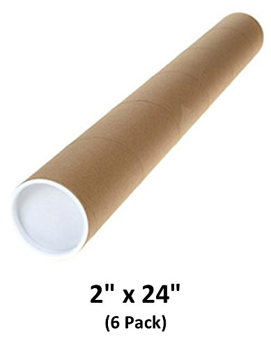 Mailing Tubes with Caps, 2 inch x 24 inch (6 Pack) | MagicWater Supply