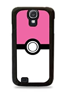 Pink Pokeball Pokemon Samsung Galaxy S4 Silicone Case - Black - 210