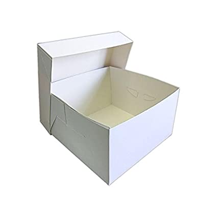 Cajas para tarta + tapa | 0,5 mm de grosor | Blanco | Resistente
