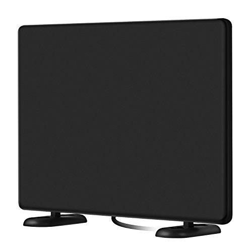 AliTEK 120+Miles Ultra Amplified TV Antenna Indoor - Upgraded Dightal HDTV Antenna with Amplifier TV Signals High Reception High Definition Antenna for TV 4K 1080P Channels Free Gain 16Ft Coax Cable - 4 Channel Coaxial