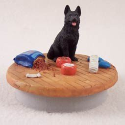 Conversation Concepts Miniature German Shepherd Black Candle Topper Tiny One