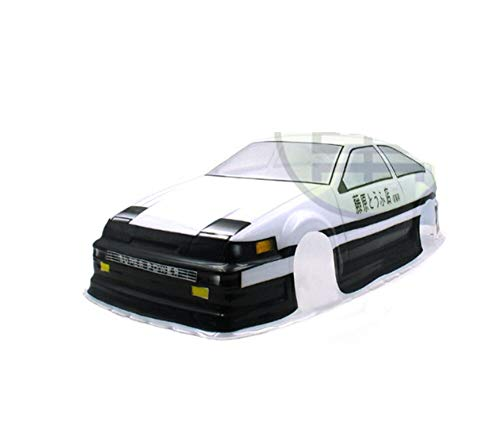 Part & Accessories 1/10 On Road PVC Toyotaa AE86 INITIAL D body shell width 195mm front rear wheelbase 250mm