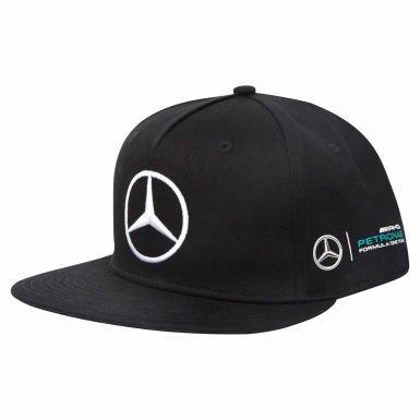 Official Mercedes AMG Petronas & Lewis Hamilton Flat Brim Cap by Italy