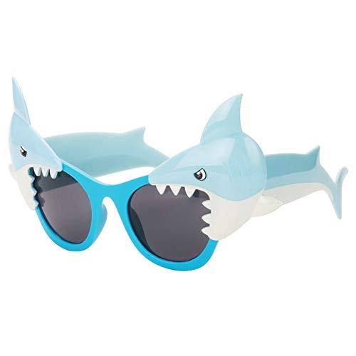 Ocean Line Shark Sunglasses - Beach Party Favors, Novelty Shades, Party Toys, Funny Costume Accessories Kids & ()