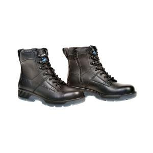 Black 6 Lace Up Side Zipper Boot Size 8.5 Blue Tongue BTGBTP8.5