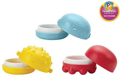(Ubbi Squeeze and Switch Silicone Mold Free Bath Toys for Toddlers and Baby)
