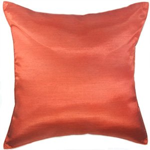 Miraculous Artiwa 16X16 Solid Burnt Orange Silk Couch Bed Decorative Throw Accent Pillowcase Machost Co Dining Chair Design Ideas Machostcouk