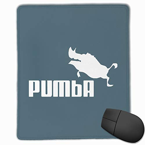 Happy Index Pumba Pig Mouse Pad with Stitched Edge, Premium-Textured Customized Non-Slip Rubber Mousepad Gaming Mouse Pad, 11.8x9.8x0.12 -
