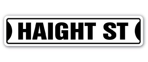 Haight Street Sign San Francisco Ashbury Road Sf Gift Funny Sign Gift Indoor Outdoor Decorative Metal Aluminum - Francisco The Gift Center San