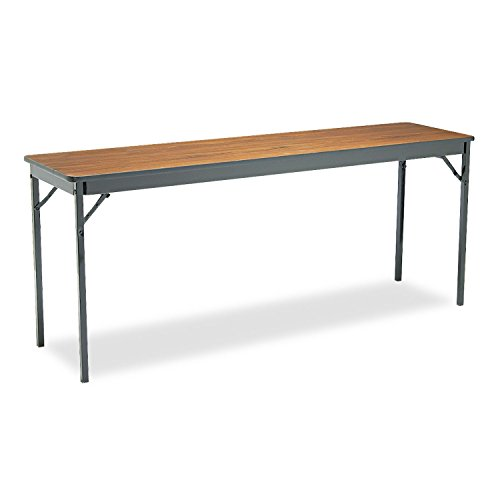 Barricks CL1872WA 72 by 18 by 30-Inch Special Size Rectangular Folding Table, Walnut ()
