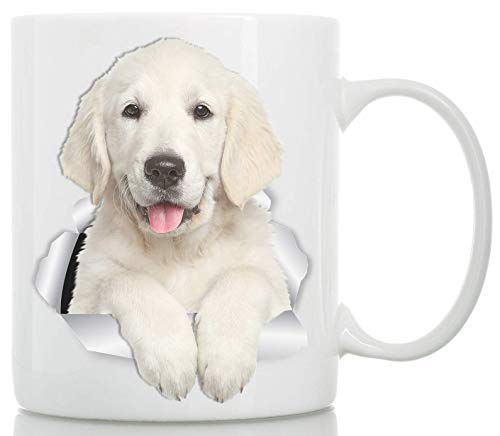 Gorgeous Golden Retriever Mug - Golden Retriever Puppy Ceramic Cofee Mug - Perfect Golden Retriever Gifts - Funny Cute Golden Retriever Dog Coffee Mug for Dog Lovers ()