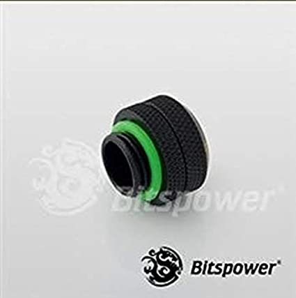 BITSPOWER G1//4 MATTE BLACK ENHANCE MULTI LINK FOR ACRYLIC TUBE OD 12MM PACK OF 6