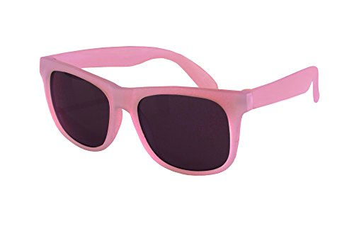 Real Kids Shades - Light Pink Pink Color Changing Polycarbonate with PC Smoke Lens - Colour Sunglasses Changing