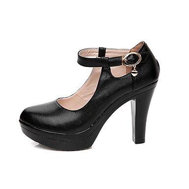 5 Black uk3 Schuhe Formale LvYuan GGX cm eu36 12 Damen 5 Normal amp; Herbst Formale cn35 Mehr us5 Schwarz Leder Heels Frühling High Schuhe Blockabsatz XwBgUxqw