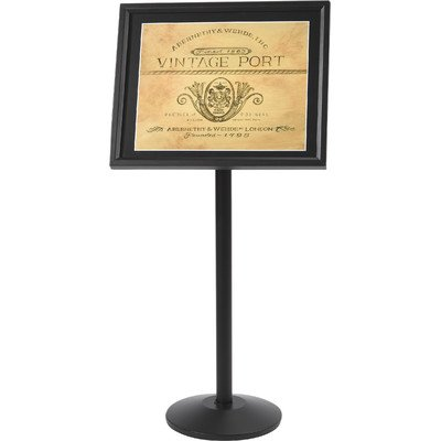 Single Pedestal Broadcaster Base and Frame Color: Black ()