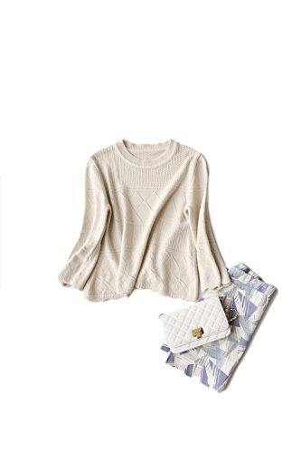 Plaid Yacun mujeres flojo suéter largo camisa Rice