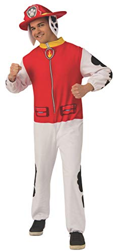 Rubie's Men's Paw Patrol Adult Marshall Costume Jumpsuit, X-Large, As Shown