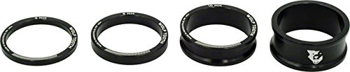 Wolf Tooth Components Headset Spacer Kit 3, 5,10, 15mm, Black