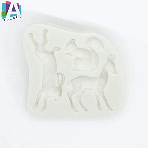 A YuanGu Silicone Cake Molds 1-Pack, Handmade Molds for Cakes, Cupcakes, Muffins, Coffee Cakes, Puddings, Cookies and DIY Soaps.