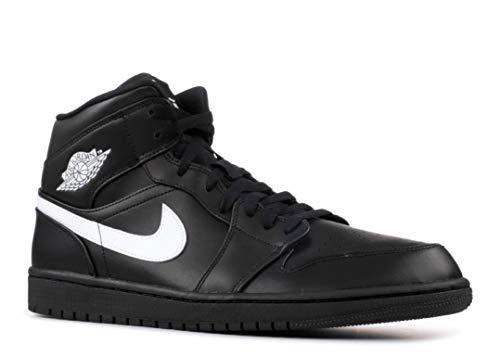 NIKE Jordan Mens Air Jordan 1 Mid Leather Trainers