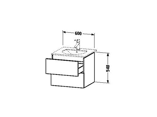 Duravit Waschtischunterschrank wandh. Delos 516x600x540mm 2 SchKa, für 049963, nussbaum gebürstet, D