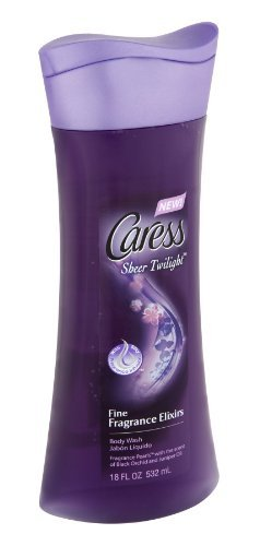 Caress Sheer Twilight Black Orchid and Juniper Oil Scent Body Wash, 18 Fluid Ounce - 6 per case.