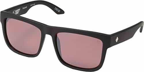 9046f9eb1ae4b Spy Optic Discord Polarized Flat Sunglasses (Black - Happy Rose Polar  w Light Silver